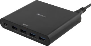 Deltaco 80W USB-C laptop charger and 4 x QC3.0 ports