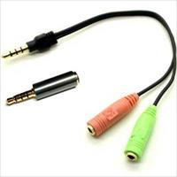 Headset og Mikrofon Adapter OMTP/CTIA for 3.5mm telefoner til 2 x 3,5mm jack (ALL000013)