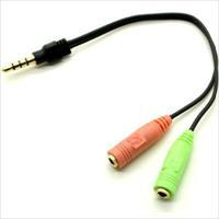 Headset og Mikrofon Adapter CTIA for 3.5mm telefoner til 2 x 3,5mm jack (ALL000014)