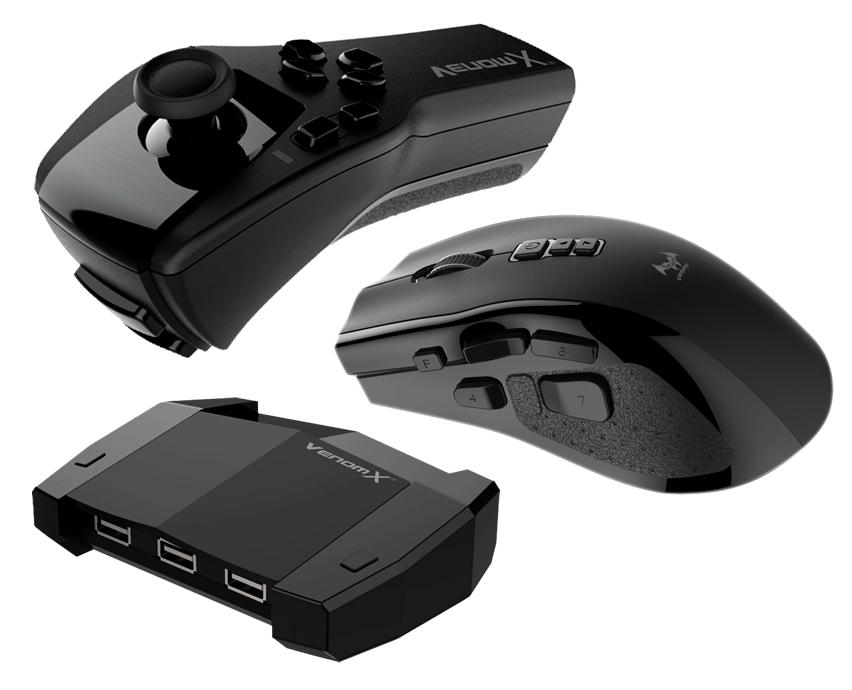 Venom-X V3 Mouse Controller PS4 FPS Mus+Kontrol til PS4 Xbox One PS3 360