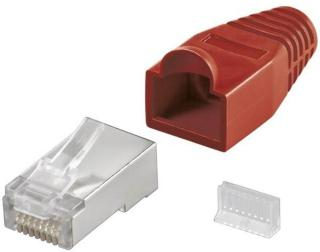 RJ45 plug CAT 5e STP shielded with strain-relief boot 4040849687488
