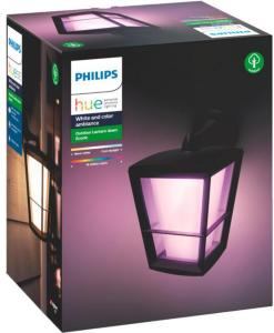Philips Hue Philips Hue WCA Econic Vegglampe Ned Sort 60153 Philips Hue Outdoor