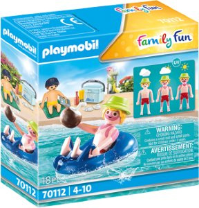 Playmobil - Swimmer with floating tyre (70112)   236Y58