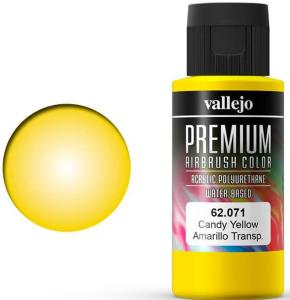 Vallejo Premium Candy Yellow 60ml Premium Airbrush Color - Candy