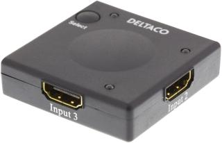 Deltaco HDMI-7002 - video/audio switch - 3 porter (HDMI-7002)