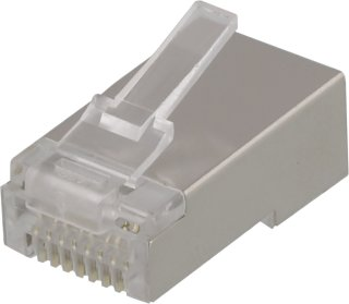 Deltaco RJ45 connector for patch cable, Cat6, shielded, 20pcs MD-18S (Kan sendes i brev)
