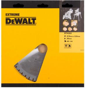 Sagblad for tre DeWalt 216x2,6x30,0 mm Z48 -5°