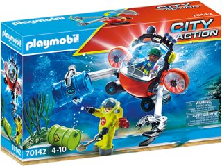 Playmobil - Sea Rescue: Enviromental operation with dive boat (70142)   236XW8