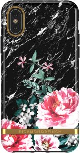 Richmond & Finch Deksel for iPhone X-XS - Black Marble Floral