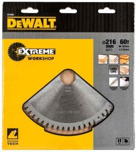 Sagblad for tre DeWalt 216x3x30,0 mm Z60 10°