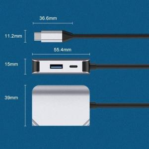 3-i-1-adapter USB-C till USB 3.0 + HDMI + PD-port