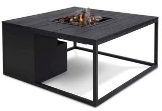 Lounge Bord m/Peis 100x100 cm Sort Trend Collection