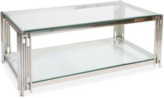 Galciana Sofabord 130 cm Glass - Krom/Transparent