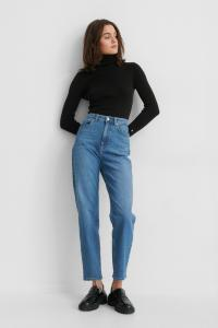 Gine Margrethe x NA-KD Gine Margrethe x NA-KD Økologiske Mom Jeans - Blue 1674-000038-0116