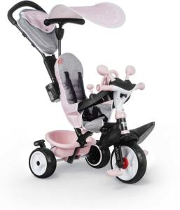 Smoby Trehjulssykkel Baby Driver Plus, Pink