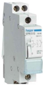 Hager Latching relay 1nc+1no 230v EPN515