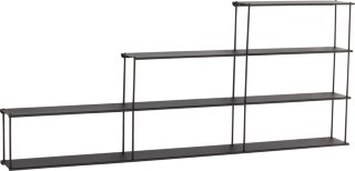 STAIRNY hylle Black mdf / metall