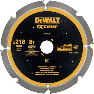 Sagblad for sement DeWalt DT1473-QZ 8T 216x30 mm