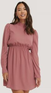 NA-KD Party NA-KD Party High Neck LS Mini Dress - Pink 1017-000885-1586