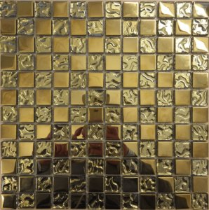 Right Price Tiles Mosaic Cristal Gold 2,3x2,3