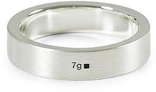 LE GRAMME Ribbon Brushed Ring Sterling Silver 7g M/58 herre