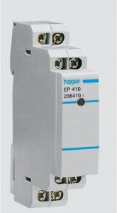 Hager Electronic latching relay 1no 8-24v EP411