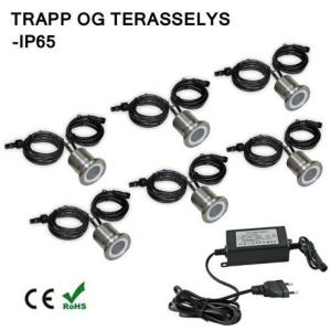LED Trappe/ Terraselys IP67 6 Stk