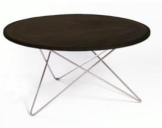 OX DENMARQ O-table leather sofabord – Black/stainless