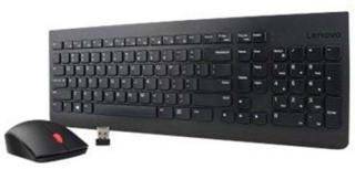 Lenovo Essential Wireless Combo - keyboard and mouse set - Greek / US - Tastatur & Mussett - Svart 4X30M39474