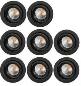 SG Junistar Eco IsoSafe 8-pack Sort 6W LED 2700K Ra 98