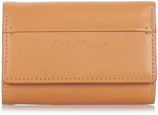 Pre-owned Ferragamo Leather Key Holder Brown