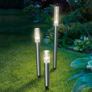 3er sett solcelledrevet LED-lysstav Trio Sticks