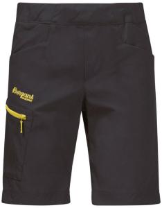 Bergans Lilletind Kids Shorts, Solid Charcoal/Pineapple, 92