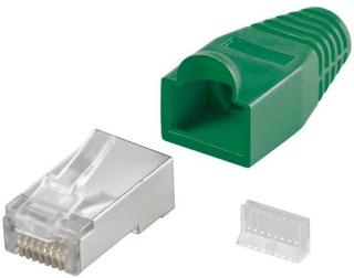 RJ45 plug CAT 5e STP shielded with strain-relief boot 4040849687471