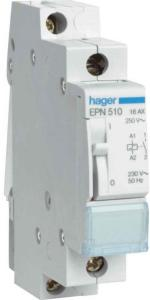 Hager Latching relay 1no 24v EPN513