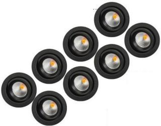 SG Junistar Eco IsoSafe 8 pack DimTowarm Sort 6W LED 2000-2800K Ra>95