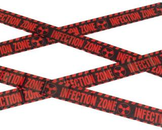 Smiffys Sperrebånd Infection Zone - Halloween festtilbehør
