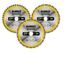 SAGBLAD SIRKEL 216MM 3-pack DEWALT 3-pakk