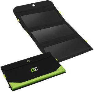 Green Cell SolarCharge 21W Solcellspanel med 6400mAh Powerbank