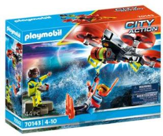PLAYMOBIL® City Action Maritime Distress: Diver Rescue with Rescue Drone 70143