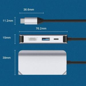 4-i-1-adapter USB-C till HDMI + VGA + USB 3.0 + PD-port