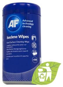 Isoclene - Tub of isopropanol surfaces wipes (100) AISW100 (Kan sendes i brev)