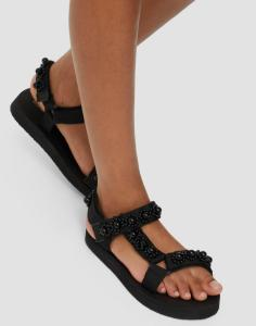 Glamorous Sporty Sandals With Pearl Details dame
