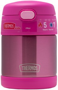 Thermos Funtainer Stainless Steel Food Jar With Folding Spoon, 290ml, mattermos 290 ml