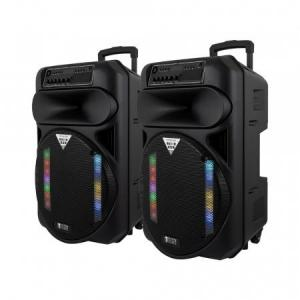 System One PartyBox 15 högtalare med Bluetooth, 2-pack