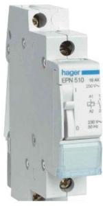 Hager Latching relay 1no 230v EPN510