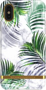 Richmond & Finch Deksel for iPhone X-XS - White Marble Tropics